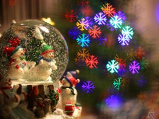 обои Праздничные снеговики фото