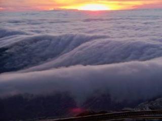 обои Закат в облаках фото