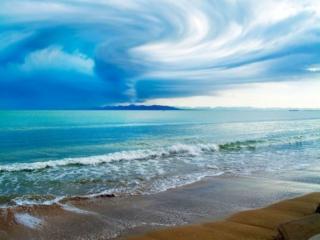 обои Рисунки небесные,   море лазурное фото