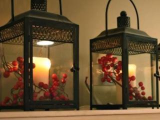 обои Рождественские фонари фото