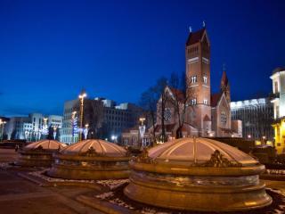 обои Ночной Минск фото