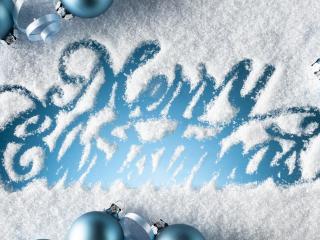 обои Рождество на снегу фото