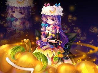обои Скромная девочка в хеллоуин фото