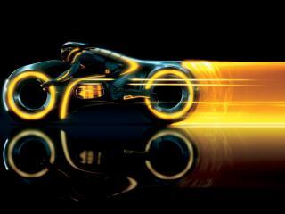 обои Рисунок скорости мотоциклиста фото