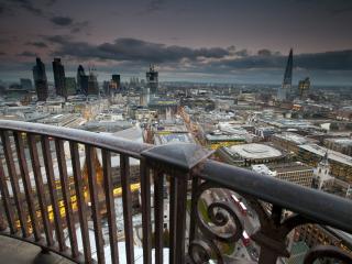 обои Пасмурным вечером вид из балкона фото
