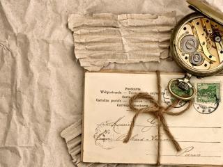 обои Старые письмa и часы карманные фото