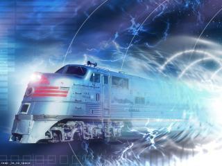 обои Поезд для путешествий во времени фото