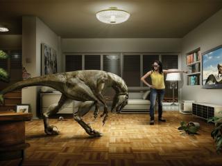 обои Домашний динозавр фото