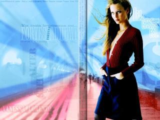 обои для рабочего стола: Девушка в кофточке и юбке