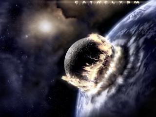 обои Комета врезается в планету фото