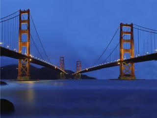 обои Два моста в одну точку фото