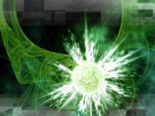 обои Вспышка на зеленом фото