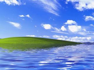 обои Море омывает остров фото
