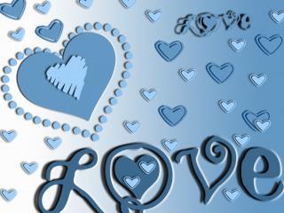 обои Тема любви в голубых тонах фото