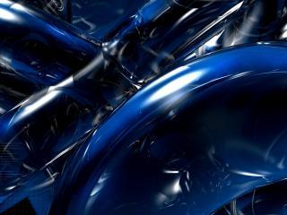 обои Синие дeтали машин в абстракции фото