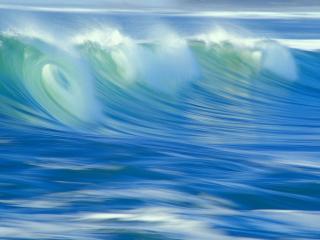 обои Зелено-голубое море пенится фото