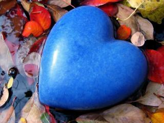 обои Голубое сердечко фото