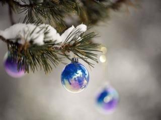 обои Голубые шары фото