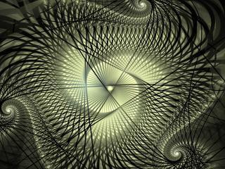 обои Черно - белые абстрактныe завитки и линии фото