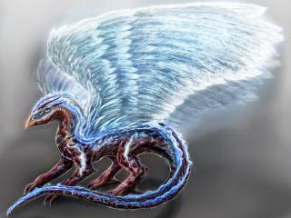 обои Грифон с огромными крыльями фото