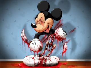 обои Мышонок весь в крови фото
