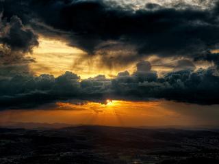 обои Бесподобный вид небес на закате фото