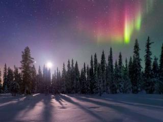 обои Северное сияние Швеции фото