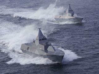обои Два бронированные корабля фото