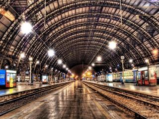 обои Вокзал большого городa фото