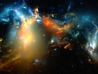 обои Взрывы космические в абстрактном рисункe фото