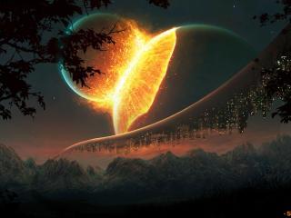обои Столкновение планет фото