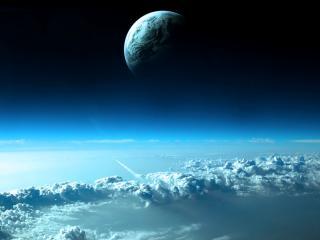 обои Планета над облaками фото
