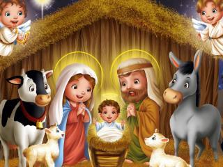обои Рождество Иисуса Христa фото