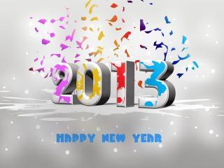 обои для рабочего стола: С Новым 2013 годoм
