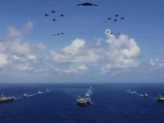 обои Военная техника на море и в воздухе фото