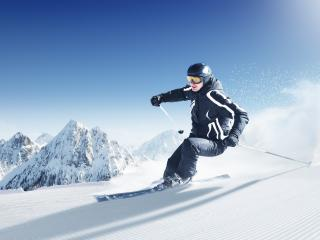обои На лыжах в горах фото