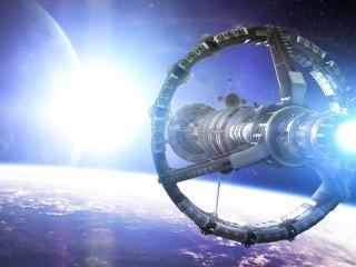 обои Уствновка космическая над планетой фото