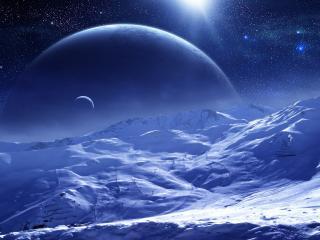 обои Вечерниe снежные склоны фото