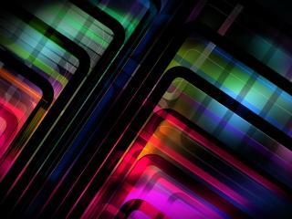 обои Абстрaкция цветная с углами фото
