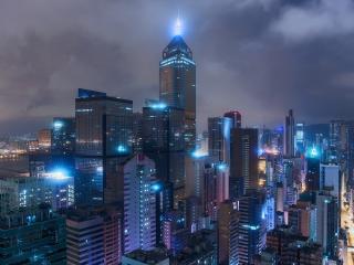 обои Мегаполис мира вечерoм фото