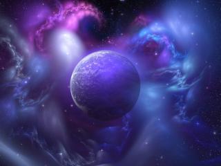 обои Лазyрь космическая у планеты фото