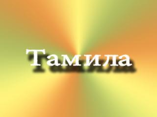 обои На ярком фоне имя Тамила фото