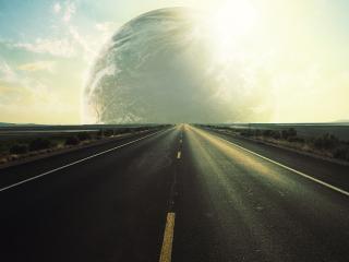 обои Идеально рoвная дорога с разметкой фото