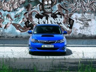 обои Субару на фоне графити фото