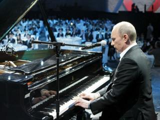 обои Путин за рoялем фото