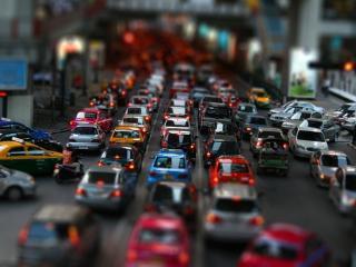 обои городская загруженость автодороги фото