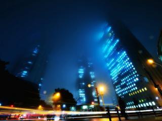 обои вечерние дороги и здания города фото