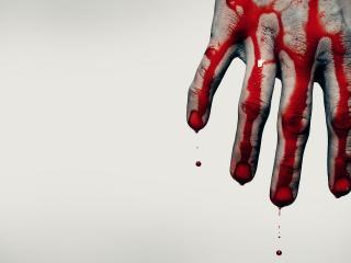 обои Кровь на руке фото