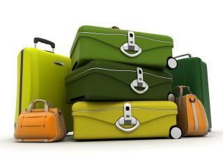 обои Разноцветные чемоданы фото