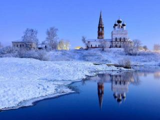 обои Зимнее утро России фото